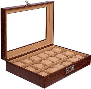 Laveri Glass Top Watch Box, Brown