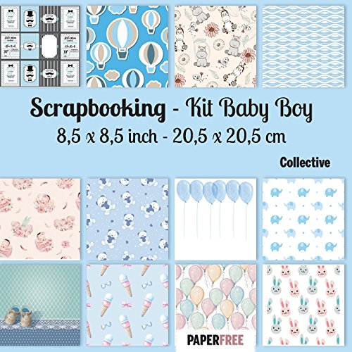 Scrapbooking Kit Baby Boy 8,5 x 8,5 inch - 20,5 x 20,5 cm