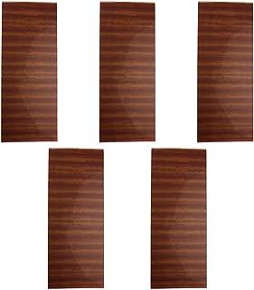 5pcs Acoustic Guitar Pickguard Scratch Plate Soft Sheets 18x46cm sapele wood Grain PVC