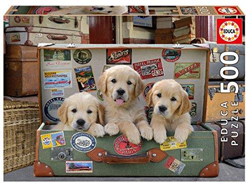 Educa Puzzle 500 Piezas, Cachorros en el Equipaje (17645)