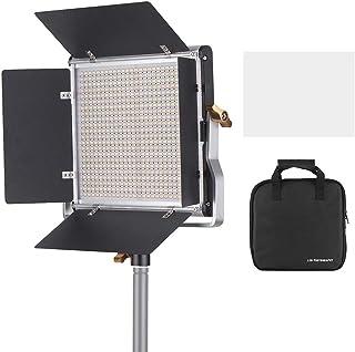 مصباح فيديو LED من Andoer و78.7 بوصة مجموعة حامل مصابيح LED 660 عاكسة للضوء لوحة إضاءة ثنائية الألوان 3200-5600K CRI 85+ م...