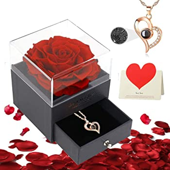 MUM-R1JB Red Rose /'I Love You Mum/' Keepsake//Jewellery Box Christmas Gift