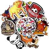 Paquete de Pegatinas 50 Piezas Personalidad Marea Marca Doodle Trolley Funda Guitarra Notebook Dibujos Animados Etiqueta Decorativa