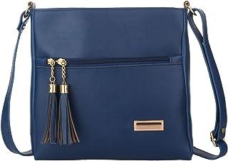 Da Eslingas Women's Cross-body Bag (DE393-BLUE_Blue)