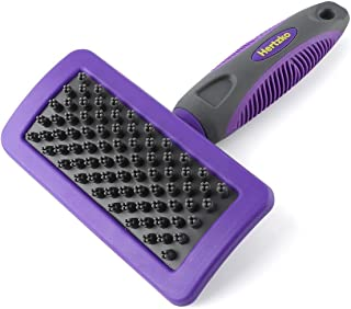 Hertzko Pet Brush Dog Cat Grooming Deshedding Comb for Bathing, Shampooing and Massaging Dogs and Cats with Short or Long ...