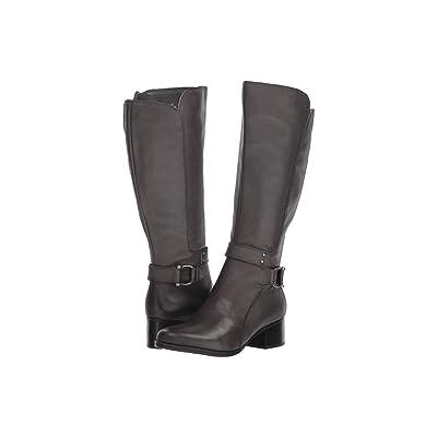 Naturalizer Dane Wide Calf (Grey Leather) Women