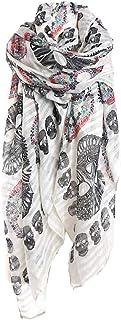 Kustom Factory Sciarpa Donna Fazzoletto Skull Bianco