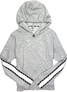 Pink Women's Perfect Full-Zip Hoodie Sweatshirt Side Snap Logo