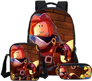 Mochila Infantil Dibujos Animados Anime Impreso 15.6 Pulgadas Bolsa De Ordenador, Mochila + Messenger Bag
