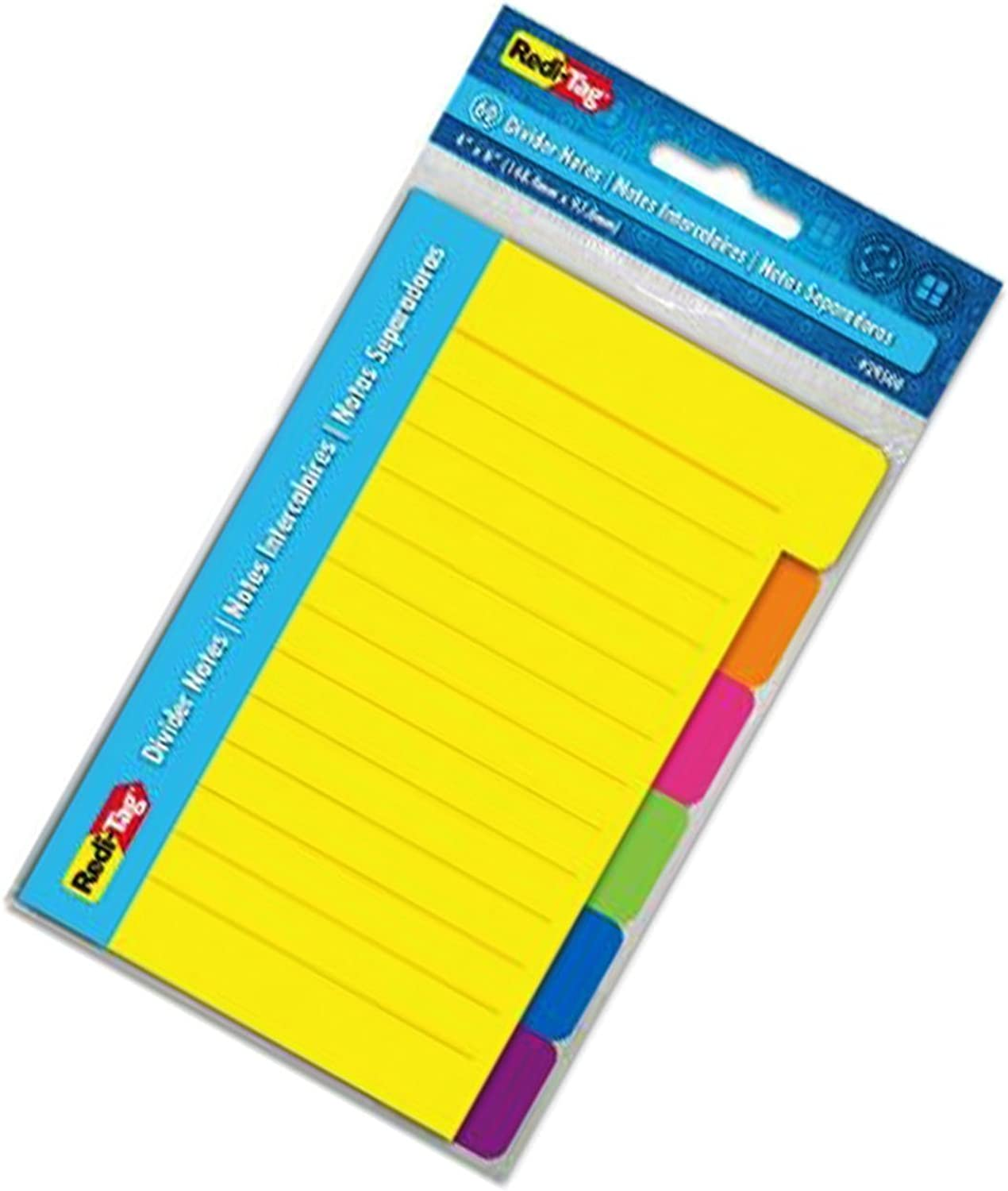 roti-Tag Divider Sticky Sticky Sticky Notes 60 Ruled Notes, 4 x 6 Inches, Assorted Neon Farbes (29500), 2-pack by roti-Tag B00UEWBDGE | Um Eine Hohe Bewunderung Gewinnen Und Ist Weit Verbreitet Trusted In-und 