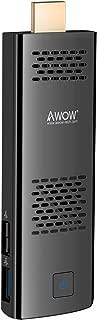PC Stick by AWOW Windows 10 Compute Stick Intel Atom x5-Z8350/4GB/32GB/Dual Band WiFi/Port/HD 4K/Bluetooth/USB3.0/HDMI/Built-in Fan