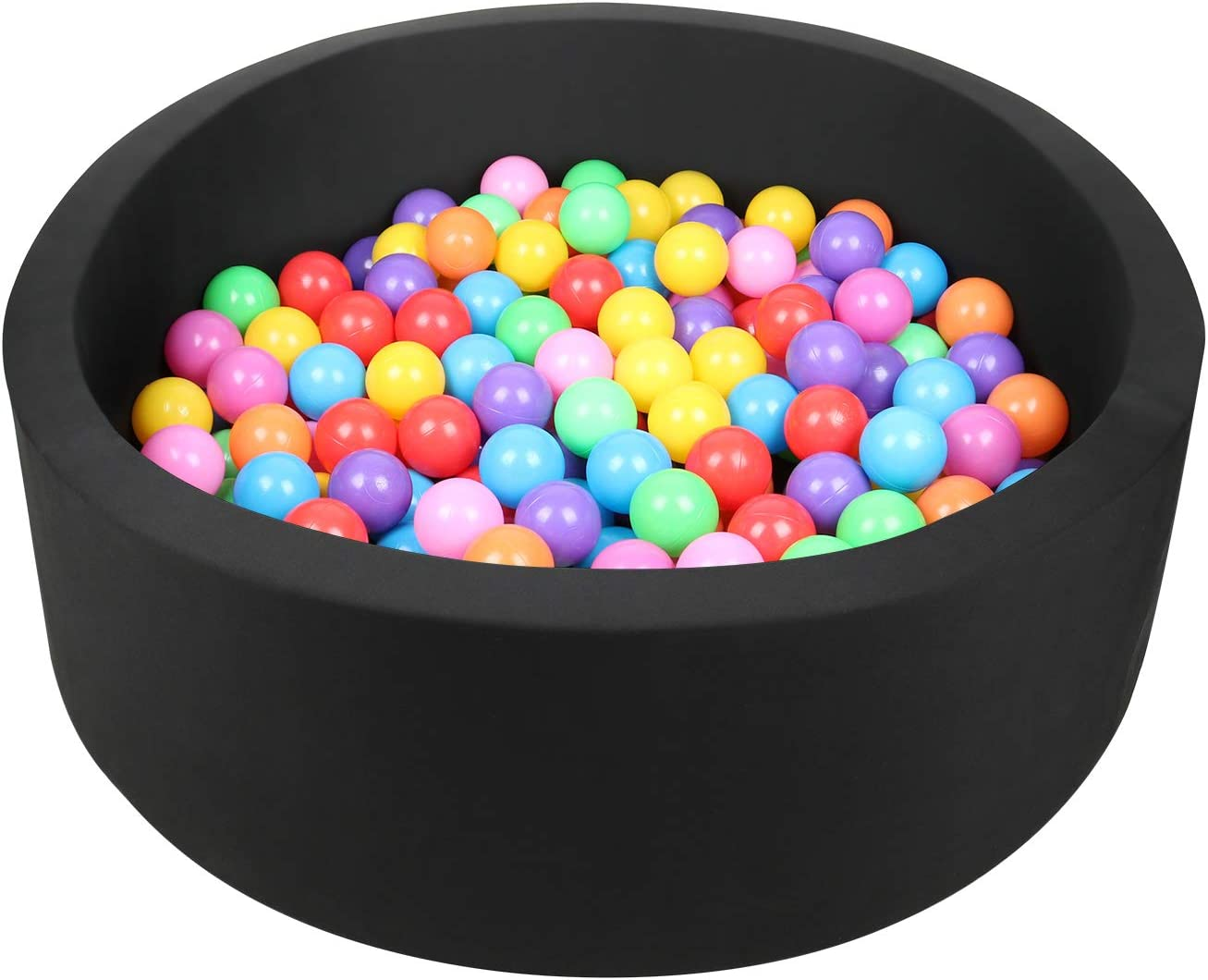 Smooth Surface /& Non-slip Bottom Children/'s Toddlers Room Decoration Small Foamic Round Ball Pit Ball Pool with 200 Balls