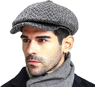 Men s Newsboy Gatsby Hat Vintage Beret Flat Ivy Cabbie Driving Hunting Cap  for Boyfriend Gift 4787a170f45
