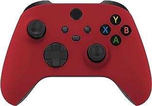 eXtremeRate Placa frontal de peça de reposição Passion Red, capa de invólucro de toque macio para acessórios de controle X...