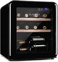 KLARSTEIN Vinetage Uno - Cave à vin, température 4-22 ° C, compresseur, 2 niveaux de clayettes en bois, éclairage LED, pro...