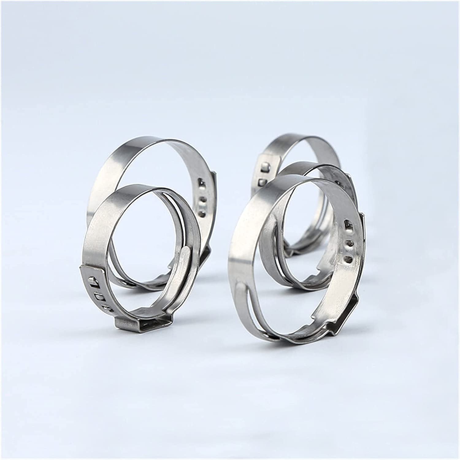 20 pcs an ear stepless hose clip clamps Under blast sales 304 pipe stainless steel Nashville-Davidson Mall