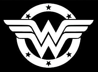 UR Impressions Wonder Woman Emblem Decal Vinyl Sticker Graphics for Cars Trucks SUV Vans Walls Windows Laptop|White|5.5 X 4 inch|URI364