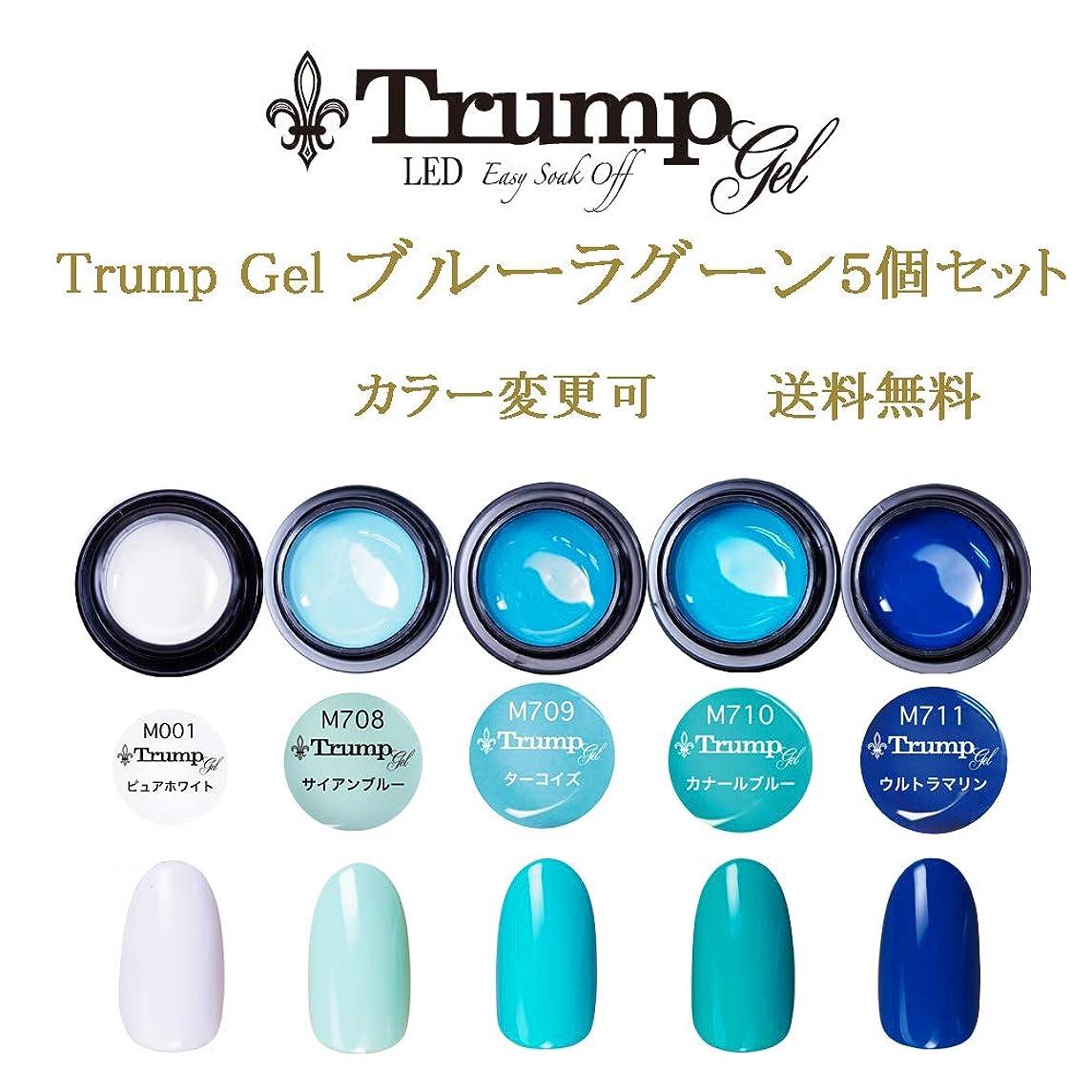 アンプ政治寝室を掃除する日本製 Trump gel トランプジェル ブルーラグーン カラー 選べる カラージェル 5個セット ブルー ターコイズ ホワイト