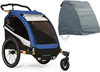 Burley D'Lite Bike Trailer - Old School Blue with Storage Cover