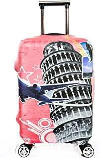 Color : A , Size : S 18-21 Luggage Cover 18//24//28//32 Inch Geometric Patterns Travel Luggage Protector Elastic Baggage Covers For Carry-on And Checked-in Anti-Scratch Dustproof Suitcase Cover