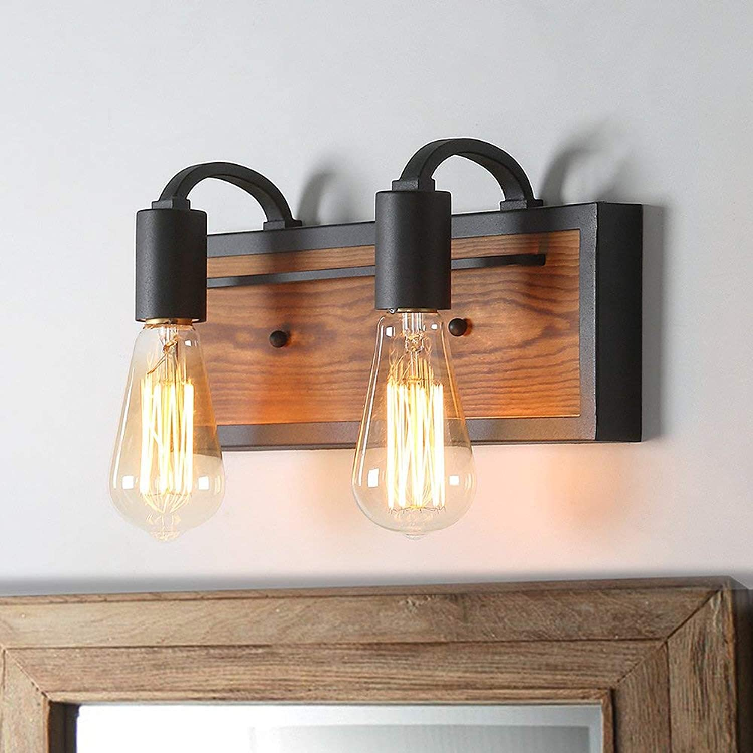 LNC Bathroom Lighting Fixtures Over Mirror Farmhouse Vanity Sconce Rustic Wall Lamp, A03439