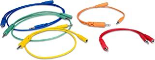 Hosa CMM-500Y-MIX 3.5 mm TS with 3.5 mm TSF Pigtail to 3.5 mm TS Hopscotch Patch Cables, Various Lengths (5 Pieces)