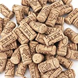 Tebery #8 Natural Wine Corks Premium Straight Cork Stopper 7/8' x 1 3/4', Excellent for Bottled Wine - 100 Count