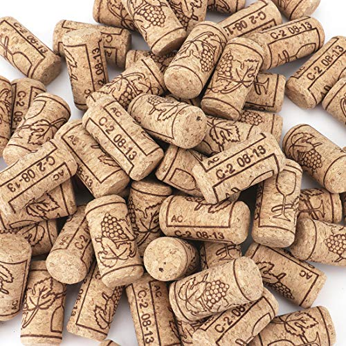 Tebery #8 Natural Wine Corks Premium Straight Cork Stopper 7/8