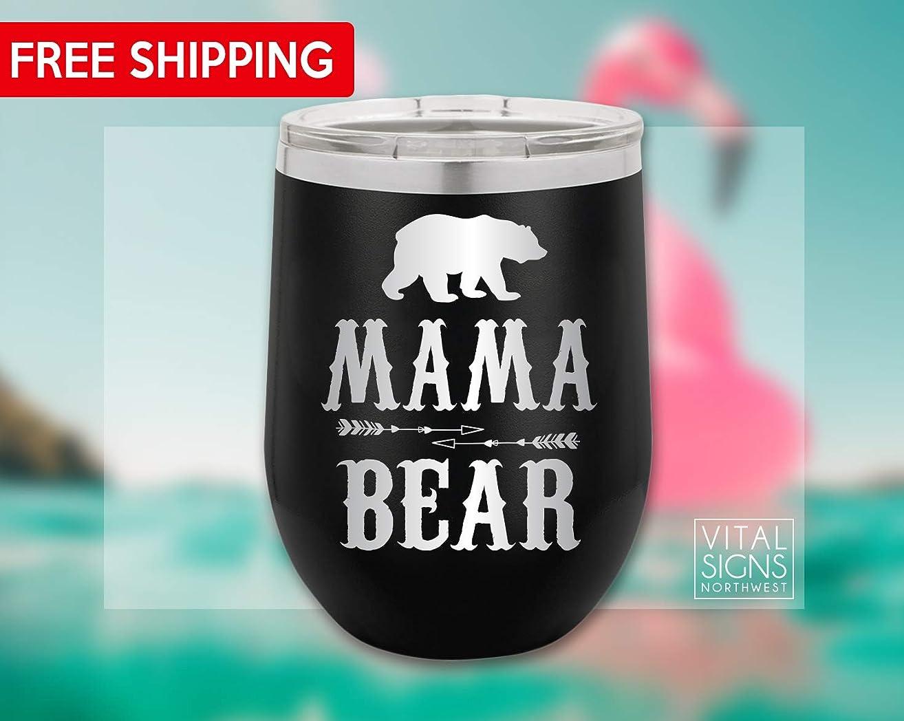 Mama Bear, Mama bear Wine Tumbler, Wine Tumbler, Mother's Day, Christmas, gifts for her, Coffee mug, Travel mug