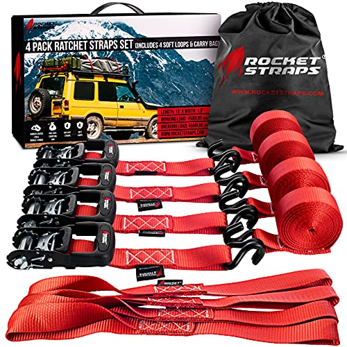 """Rocket Straps - Heavy Duty Ratchet Straps 