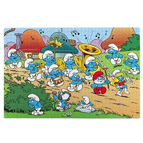 Die Schlümpfe-Puzzles für Erwachsene 1000 Teile Puzzle Home Decor Puzzles 1000 Teile für Erwachsene Puzzle Spiele Familie Spaß Bodenpuzzles Lernspielzeug für Kinder