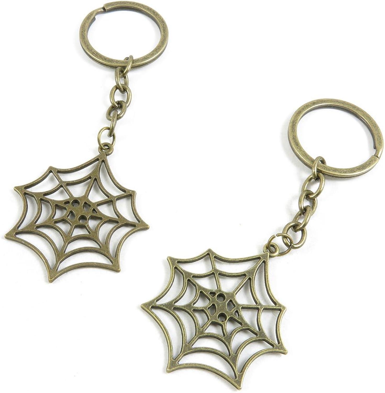 140 Pieces Fashion Jewelry Keyring Keychain Door Car Key Tag Ring Chain Supplier Supply Wholesale Bulk Lots Y5LY2 Cobweb Spider Net