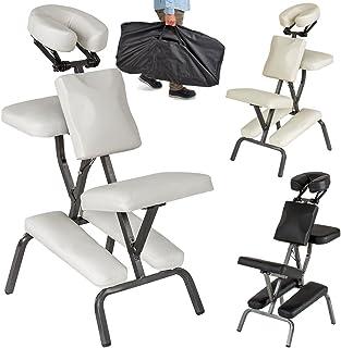 Chaise de massage avec le sac 8 kg Pliante Bleu Clair KINGPOWER