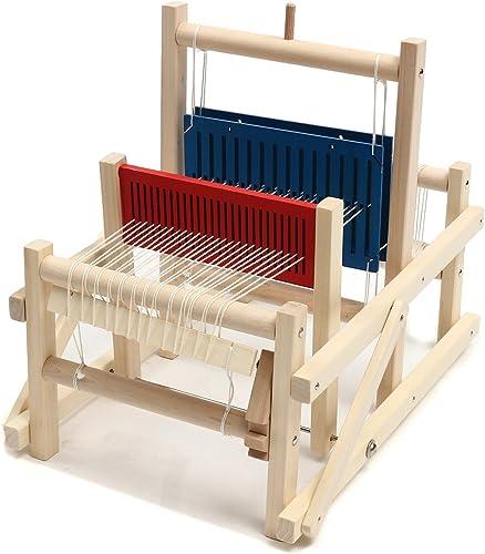 ChaRLes Handwerk Holz Traditionellen Tisch Stricken Weben Webstuhl Kinder Spielzeug P gogisches DIY Brokat Modell