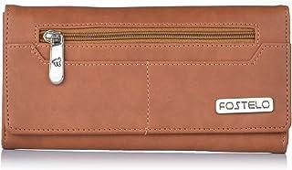 Fostelo Women's Versatile Two Fold Wallet (Tan)