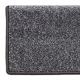Floordirekt Velours-Stufenmatten Sundae | Halbrund oder Eckig | Treppenmatten in 6 Farben | Strapazierfähig & pflegeleicht | Stufenteppich für Innen (Anthrazit, Eckig 65 x 23,5 cm) - 7