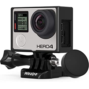 Wealpe Frame Mount Housing Case Compatible with GoPro Hero 4, 3+, 3 Cameras with Protective Lens Cover