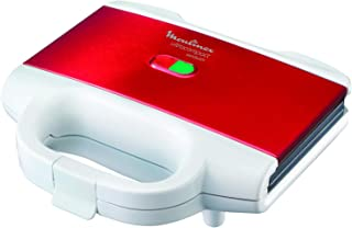 Moulinex Sandwich Maker, perfect for sandwiches, paninis, all breads, red color, SM156843