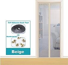 LQJin 100-105 cm breedte versterkte magnetische schermdeur, anti-muggengordijn gaas voor deur (kleur: beige, maat: B 105 x...
