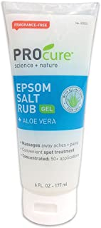 Concentrated Epsom Salt Rub Gel w/ Aloe Vera For Muscle Tension Aches & Pain