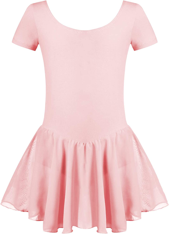 Arshiner Kid Girls Ballet Leotard Toddle with Short Jacksonville High material Mall Sleeve Skirt