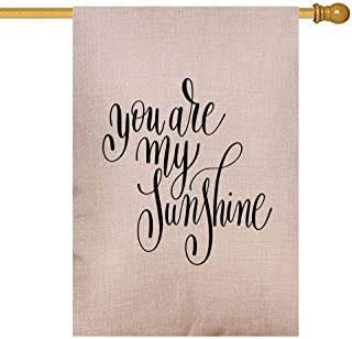 Gesmatic Welcome Garden Flag, Decorative Yard Farmhouse Holiday Banner 28X40 Inches You are My Sunshine Handwritten Quote About Love to Valentines Day Wedding Double-Sided Seasonal Farm Garden Flag