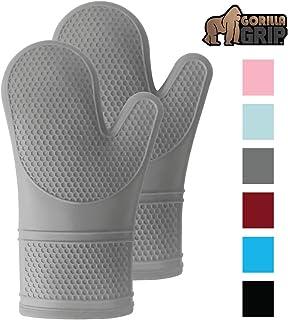 Gorilla Grip Premium Silicone Slip Resistant Oven Mitt...