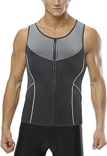 Men Sweat Vest Waist Trainer for Weight Loss Zipper Tank Top Neoprene Sauna Suit Workout Body Shaper
