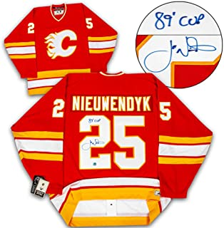 Joe Nieuwendyk Calgary Flames Autographed Adidas Authentic Vintage Hockey Jersey
