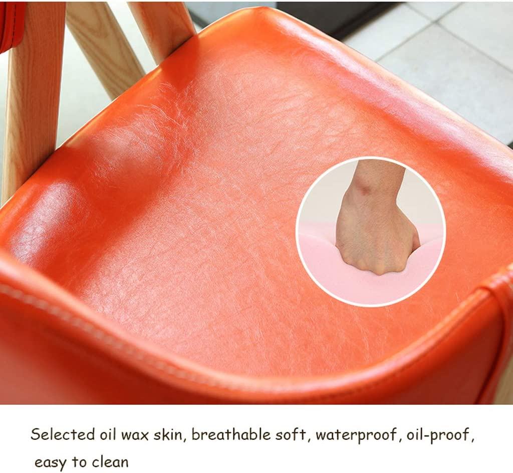 Lxn Pieds en Bois Massif simplicité Moderne Chaise à Manger, Coussin en Cuir Haut de Gamme, Parfait pour Manger et Salon, comptoir, café - 1PCS Pink