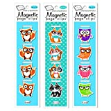 Re-marks Animals w/Glasses Magnetic Page Clips Includes 3 Styles (Foxes, Woodsy Owls, Cats) and 12 Page Clips