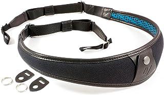 4V Design ALA Handmade Leather & Canvas Camera Strap w/Universal Fit Kit, Black/Black (2ALLUCV0909)