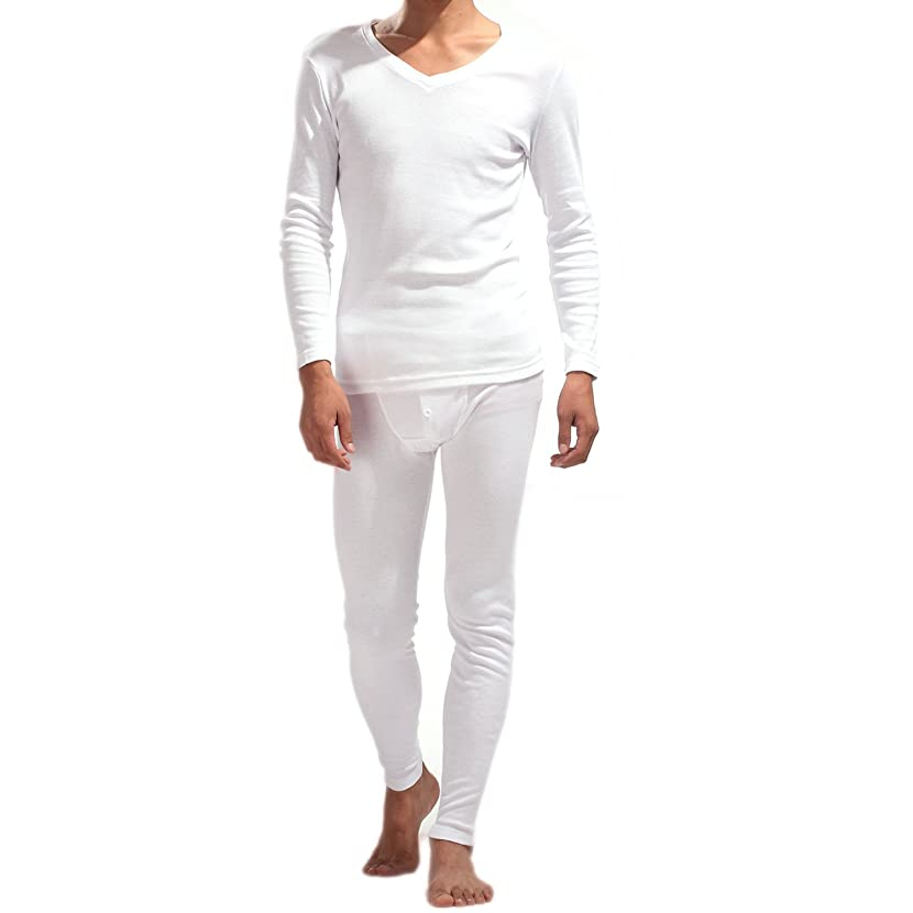 Godsen Men's V-Neck Thermal Set Long John Underwear