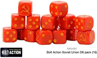 Bolt Action Warlord Games, Soviet Union D6 (16) Dice